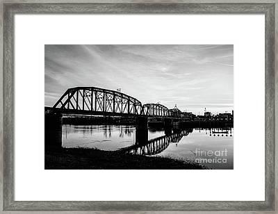 Reflections On The Red River Shreveport Framed Print
