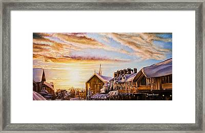 Reflections On The Snow Framed Print