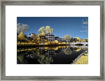 Reflections On Wesley Lake Framed Print