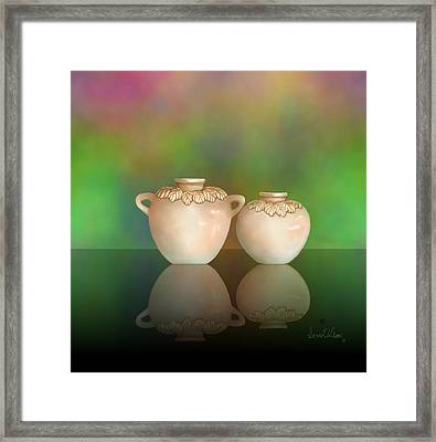 Framed Print featuring the painting Reflections by Sena Wilson