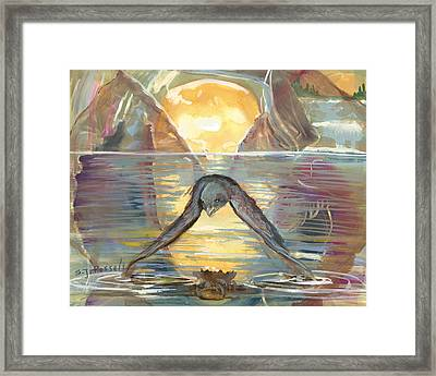 Reflections Swallowed Framed Print