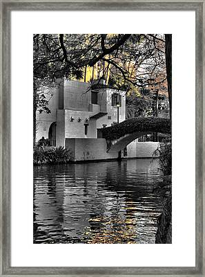 Reflections Under The Bridge Framed Print