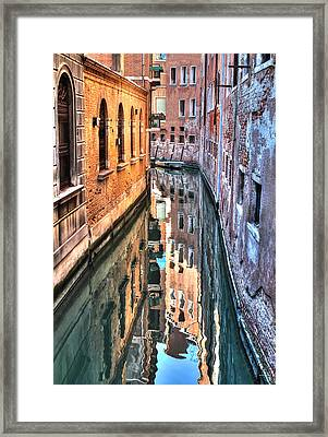 Reflections Venice Italy Framed Print by Tom Prendergast