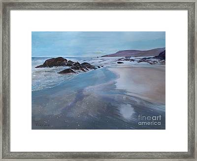 Reflections - Painting Framed Print by Veronica Rickard