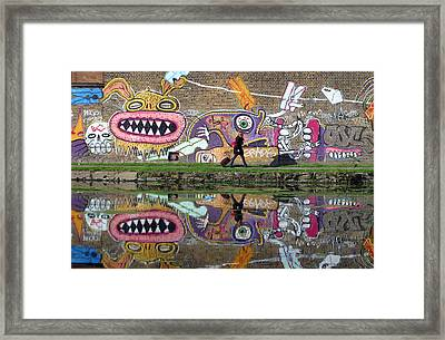 Reflective Canal 11 Framed Print by Jez C Self