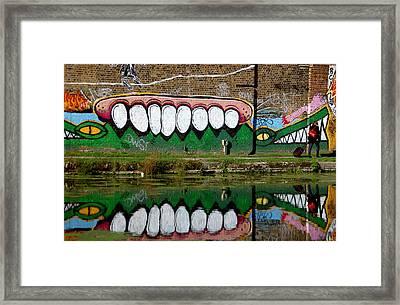 Reflective Canal 12 Framed Print by Jez C Self