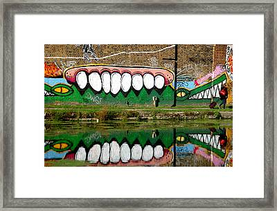 Reflective Canal 13 Framed Print by Jez C Self