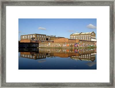 Reflective Canal 3 Framed Print by Jez C Self