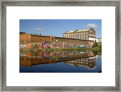 Reflective Canal 4 Framed Print by Jez C Self