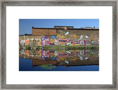 Reflective Canal 5 Framed Print by Jez C Self