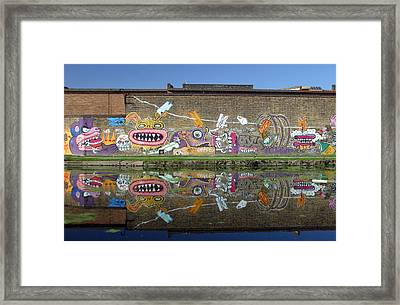 Reflective Canal 7 Framed Print by Jez C Self
