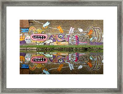 Reflective Canal 8 Framed Print by Jez C Self