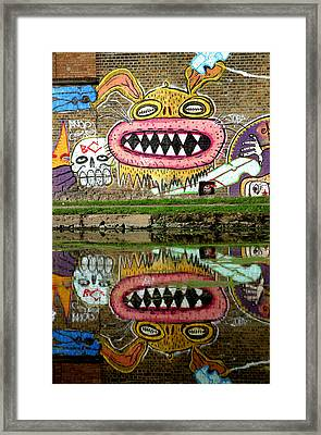 Reflective Canal 9 Framed Print by Jez C Self