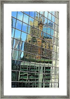 Reflective Chicago Framed Print