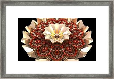 Reflective Flower Framed Print