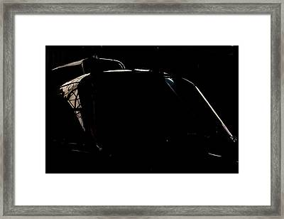 Reflective Helicopter Outline Framed Print by Paul Job