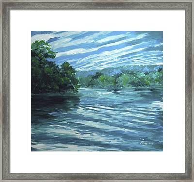 Reflective Landscape Framed Print by Dan Terry