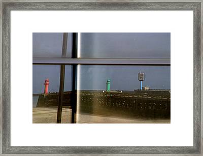 Reflective Lighthouses Framed Print by Jez C Self