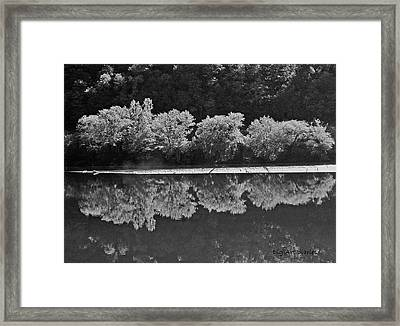 Reflective Segregation Framed Print by DigiArt Diaries by Vicky B Fuller