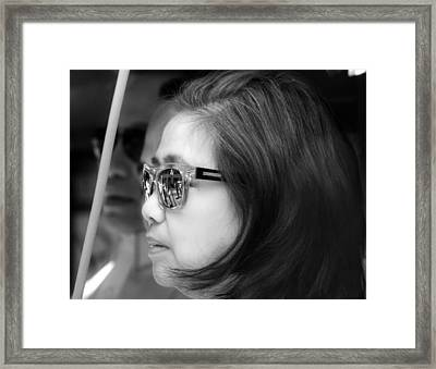 Reflective Sunglasses Framed Print by Robert Ullmann