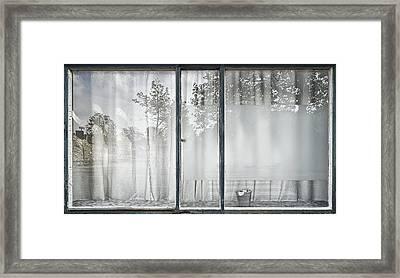 Reflective Window Framed Print by Susanne Stoop