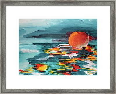Reflectsun Framed Print
