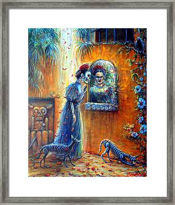Framed Print featuring the painting Reflejo De Frida by Heather Calderon