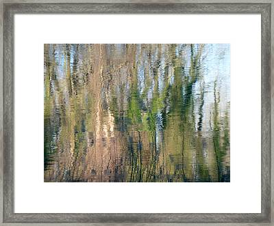 Framed Print featuring the photograph Reflet Rhodanien Pastel 1 by Marc Philippe Joly