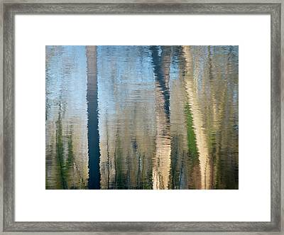 Framed Print featuring the photograph Reflet Rhodanien Pastel 2 by Marc Philippe Joly
