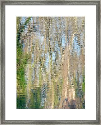 Framed Print featuring the photograph Reflet Rhodanien Pastel 3 by Marc Philippe Joly