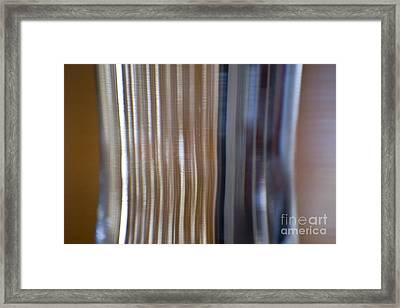 Refraction In Glass Framed Print