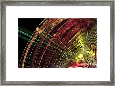 Refraction Framed Print by Sandra Bauser Digital Art