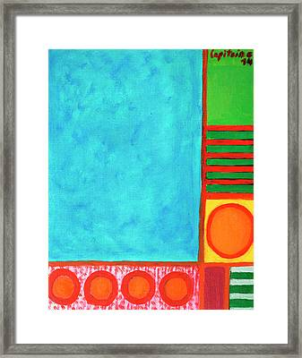 Refreshing Blue Framed Print by Heidi Capitaine