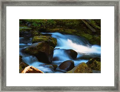 Refreshing Flow Framed Print