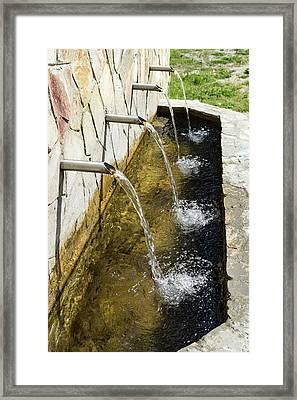 Refreshing Mountain Water - The Four Tap Natural Spring Abundance Framed Print by Georgia Mizuleva