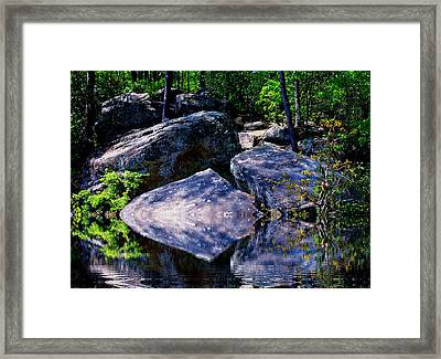 Refreshing Place On A Hot Day Framed Print