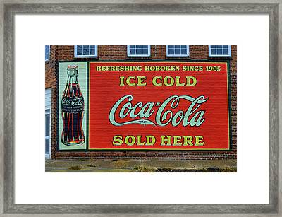 Refreshingly Painted Framed Print