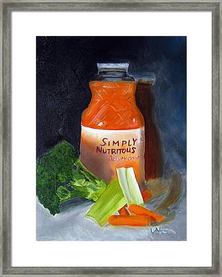 Refrigerator Items Framed Print by LaVonne Hand
