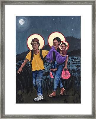 Refugees La Sagrada Familia Framed Print by Kelly Latimore