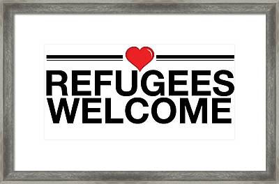 Refugees Wecome Framed Print