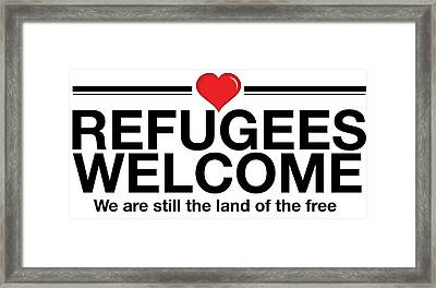 Refugees Welcome Framed Print