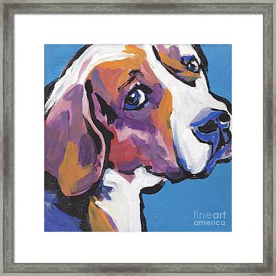 Regal Beagle Framed Print by Lea S