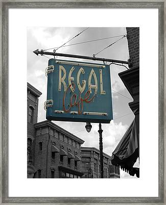 Regal Cafe Framed Print by Audrey Venute