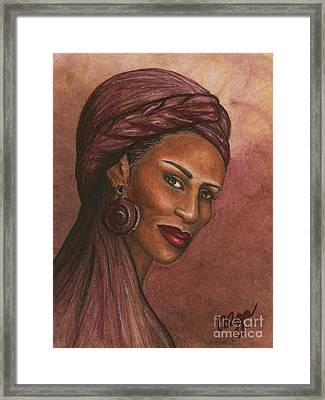 Regal Lady In Plum Framed Print