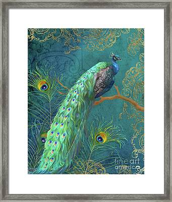Regal Peacock 3 Midnight Framed Print
