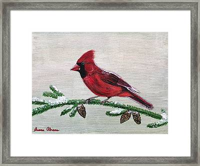 Regal Red Framed Print