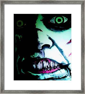 Regan Exorcist Framed Print by Sam Hane