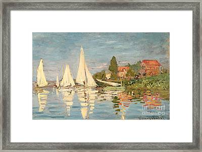 Regatta At Argenteuil Framed Print