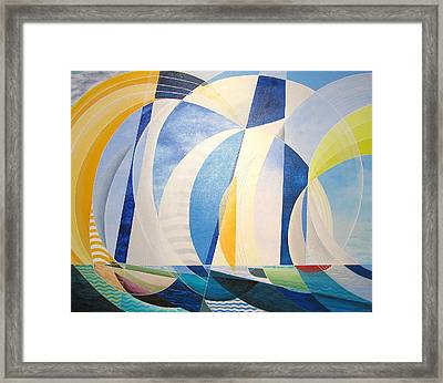 Framed Print featuring the painting Regatta by Douglas Pike