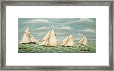 Regatta Off The Long Sand Lightship Framed Print